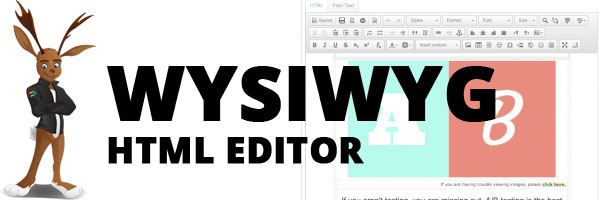 JangoMail has an easy to use WYSIWYG editor that makes creating professional HTML emails easy.